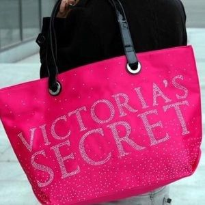 Victoria's Secret bling pink satin tote